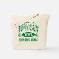 Donovan Irish Drinking Team Tote Bag