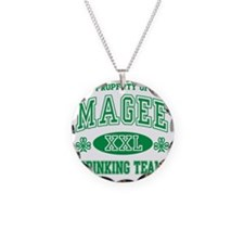 Magee Irish Drinking Team Necklace Circle Charm