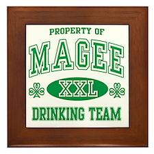 Magee Irish Drinking Team Framed Tile