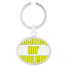 Mojitos Mo Problems Glass Oval Keychain