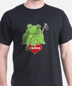Toadily Frog I love Frogs T-Shirt