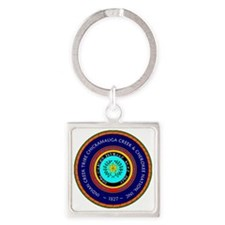 new seal1827 Square Keychain