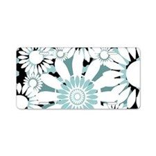tealflowsclutch Aluminum License Plate