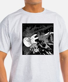 guitar splatterbackground T-Shirt