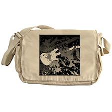 guitar splatterbackground Messenger Bag