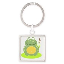 Freddy the Frog Square Keychain