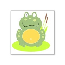 "Freddy the Frog Square Sticker 3"" x 3"""