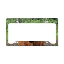 Mini wallet Highland cow head License Plate Holder
