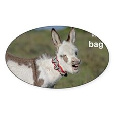 Toilet bag Donkey foal with teeth,  Decal
