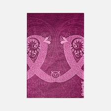 FlipFlops_CurlyRibbon_PinkLGT Rectangle Magnet