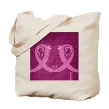 FlipFlops_CurlyRibbon_PinkLGT Tote Bag