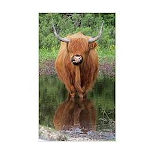 Standard Highland cow head on, Decal