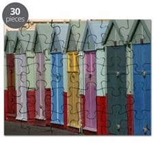 Standard Row of beach hut doors, Hove Puzzle
