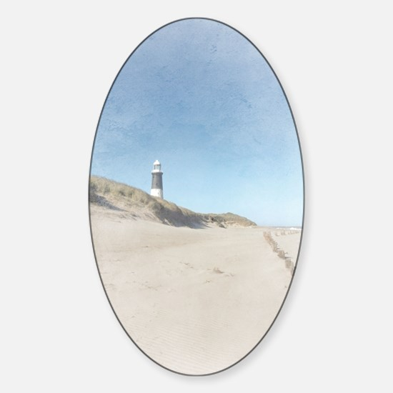 Spurn Point Lighthouse | Texture Sticker (Oval)