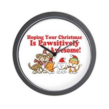 Dogs & Cats Pawsitively Awesome Christmas Wall Clo