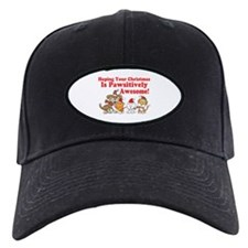 Dogs & Cats Pawsitively Awesome Christmas Baseball Hat