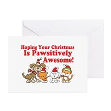 Dogs & Cats Pawsitively Awesome Christmas Greeting