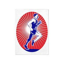 Marathon runner jogger fitness runn 5'x7'Area Rug