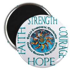 Faith Strength Courage Hope - Block Magnet