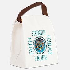Faith Strength Courage Hope - Blo Canvas Lunch Bag