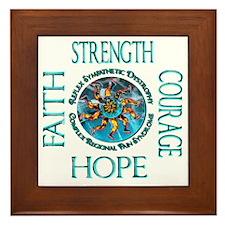 Faith Strength Courage Hope - Block Framed Tile
