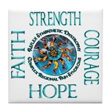 Faith Strength Courage Hope - Block Tile Coaster