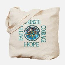 Faith Strength Courage Hope - Block Tote Bag