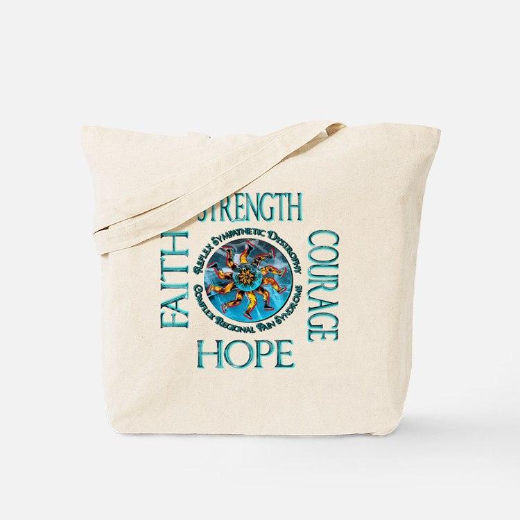 Faith Strength Courage Hope - Block Tote Bag