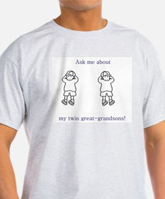 Great-Grandpa of Twins T-Shirt