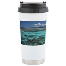 Snorkelers and Reef, Green Isla Travel Mug