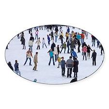 People skating at Medeo skating rin Decal