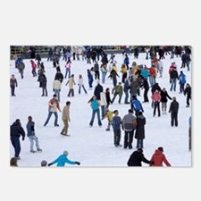 People skating at Medeo s Postcards (Package of 8)
