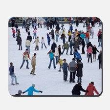 People skating at Medeo skating rink amo Mousepad