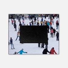 People skating at Medeo skating rink Picture Frame