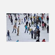People skating at Medeo skating r Rectangle Magnet