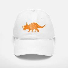 triceratops_orange Baseball Baseball Cap