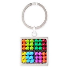 Flip flops Coloured crayons 2 Square Keychain