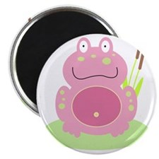 Fiona the Pink Frog Magnet
