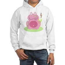 Fiona the Pink Frog Hoodie Sweatshirt
