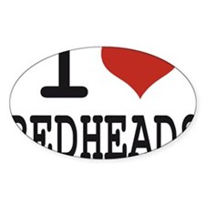 i love redheads Decal