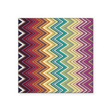 "zigzag-horizontal Square Sticker 3"" x 3"""