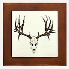 Buck deer skull Framed Tile