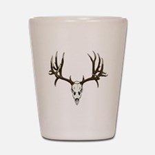 Buck deer skull Shot Glass