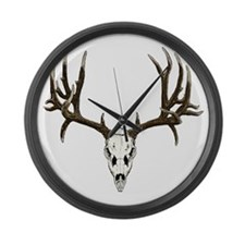Buck deer skull Large Wall Clock