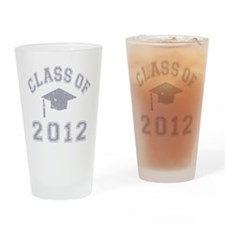 CO2012 Cap Gray Distressed Drinking Glass