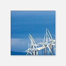 """Tararua Wind Farm, Tararua  Square Sticker 3"""" x 3"""""""