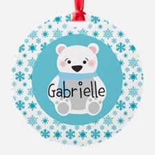 Personalized Christmas Snow Bear Ornament