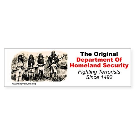 Geronimo - Fighting Terrorism Since 1492 Sticker (
