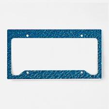 Martinique. Le Diamant: Blue  License Plate Holder