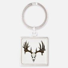Skull hunter whitetail  buck Square Keychain